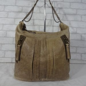 J. Crew Distressed Brown Leather Shoulder Bag